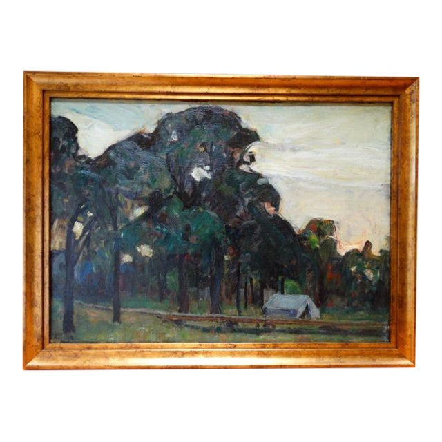 Ejnar Hansen California Campground Painting - Image 1 of 6
