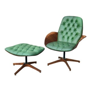 """Mid Century George Mulhauser for Plycraft """"Mrs Chair"""" Lounge Chair & Ottoman For Sale"""