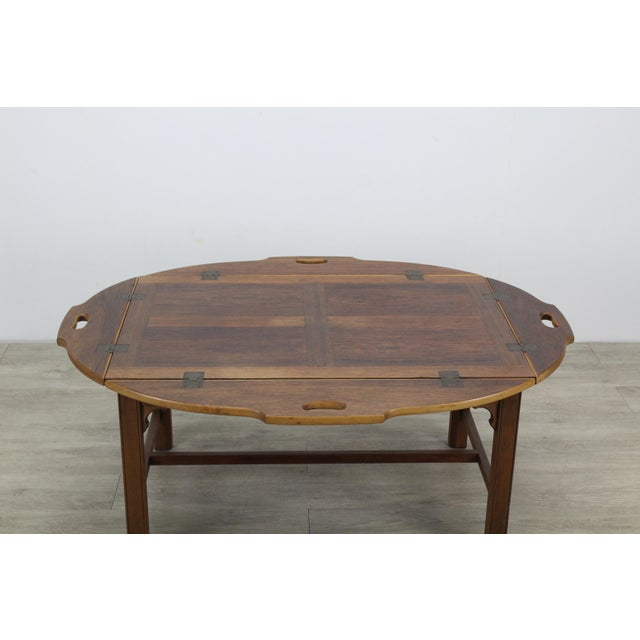 Mid-Century Walnut Tray Table For Sale - Image 4 of 12