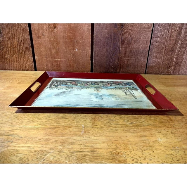 1970s Shabby Chic Serving Tray For Sale - Image 5 of 11