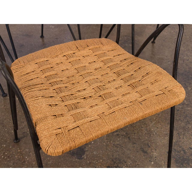 Salterini Woven Ribbon Chairs and Table Patio Set - 5 pieces For Sale - Image 9 of 11