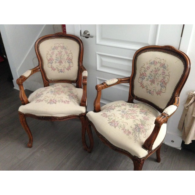Italian Vintage Chateaux d'Ax Italian Armchairs - Pair For Sale - Image 3 of 7