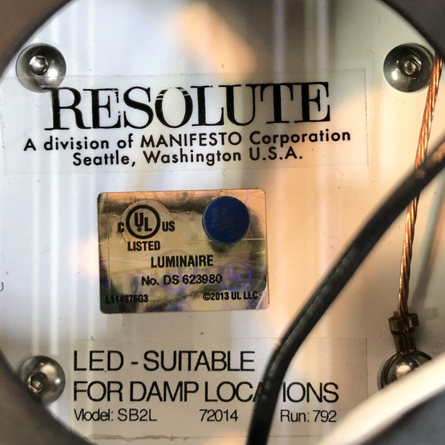 Brown Resolute Outdoor Box Light 2 in Strie For Sale - Image 8 of 9
