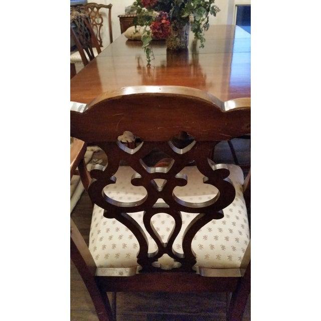 Wood Antique Bernhardt Dining Set For Sale - Image 7 of 9