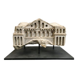 18th C. Model Building Fragment on Stand - Large For Sale