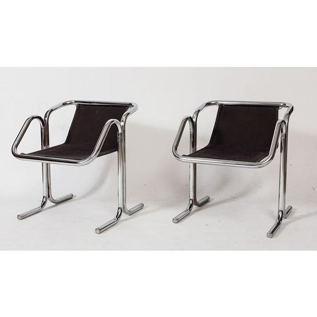 These are fantastic examples of California 1970's design. Four Jerry Johnson designed chairs for Landes Manufacturing with...