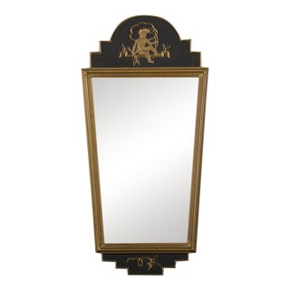 19th Century Swedish Neoclassical Gustavian Style Painted Framed Mirror For Sale