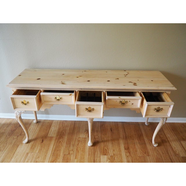 Mid-Century Modern 1990s Shabby Chic Lexington Link Taylor Console Table For Sale - Image 3 of 13