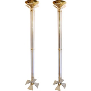 Vintage Italian Floor Lamps - A Pair For Sale