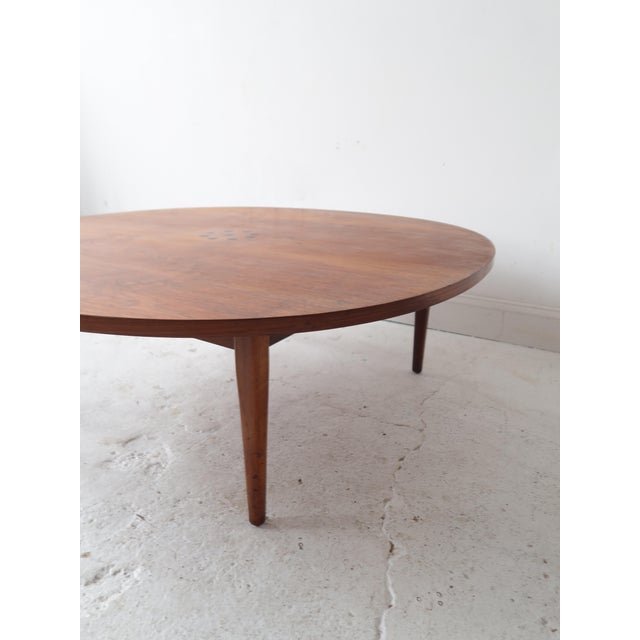 Kipp For Drexel Mid Century Round Coffee Table Image 4 Of 6