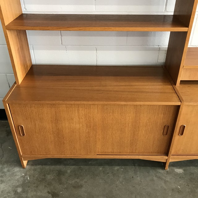 Danish Modern Freestanding Wall Unit For Sale - Image 9 of 11