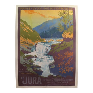 1920s Original French Art Deco Travel Poster, Le Jura For Sale