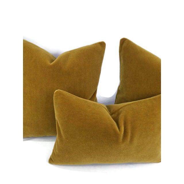 Not Yet Made - Made To Order S. Harris Ankara Mohair Amber Velvet Lumbar Pillow Cover For Sale - Image 5 of 6