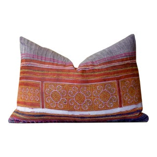 Sun Hmong Hill Tribe Pillow For Sale