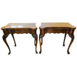 Pair of 18th-19th Century Georgian Compatible Card / Game or Flip Top Tables For Sale