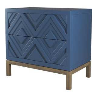 Susana Side Table - Newburyport Blue, Weathered Gray Oak For Sale