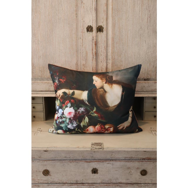 Paris Photo Pillow Italian Painting in the Louvre For Sale - Image 11 of 12