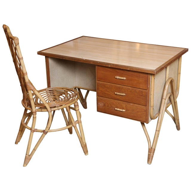 Bamboo Desk and Chair For Sale - Image 11 of 11