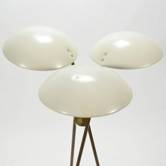 Lacquer Gerald Thurston Tripod Floor Lamp by Lightolier For Sale - Image 7 of 10