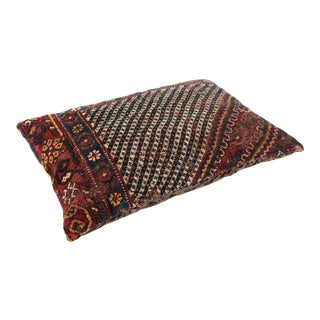 Antique Decorative Double-Knotted Rug Pillow Cover For Sale