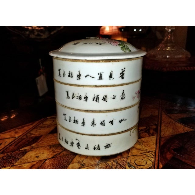19th Century Tongzhi Dynasty Stackable Bowls With Lid - 4 Pc. For Sale - Image 4 of 13