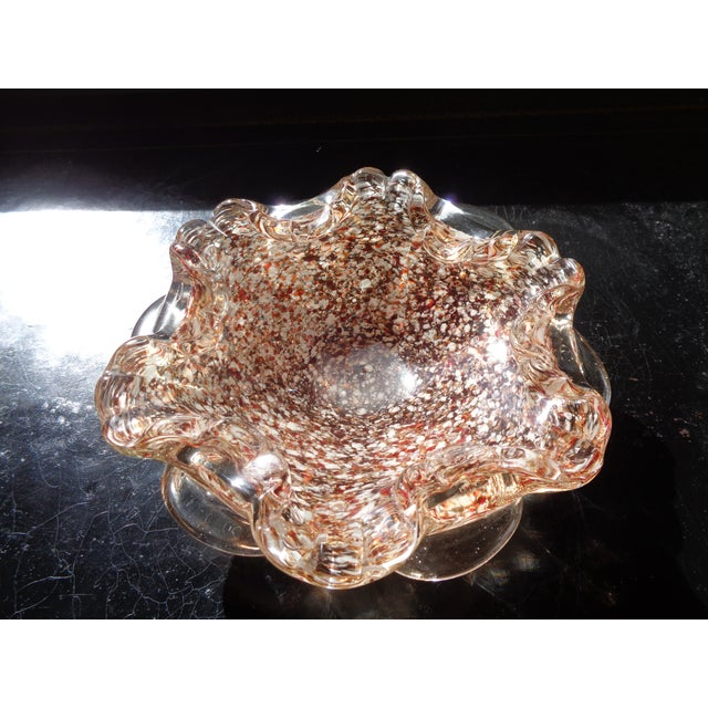 Mid 20th Century Mid-Century Copper & White Murano Bowl For Sale - Image 5 of 5