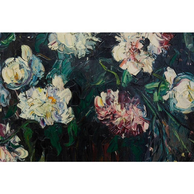 Paint Emeric Vagh-Weinmann, Peonies, 1964 For Sale - Image 7 of 11