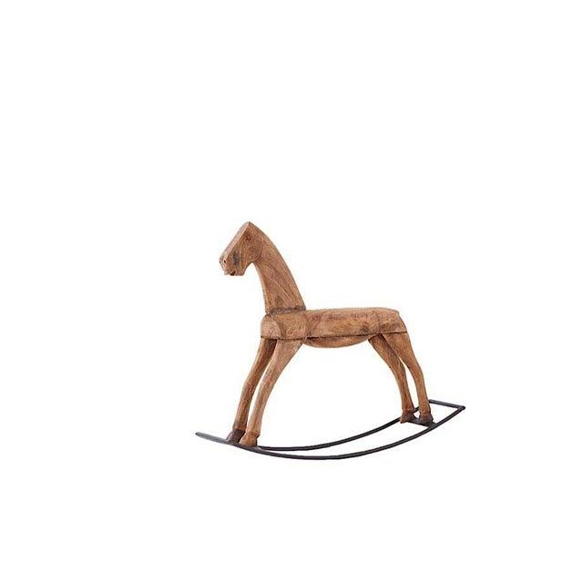 Brown Wood Rocking Horse - Image 2 of 3