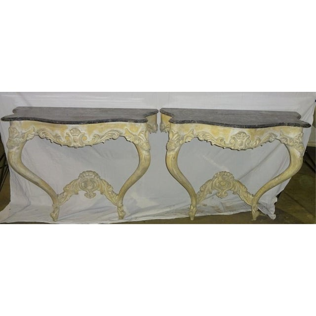 Italian Console Tables - A Pair - Image 5 of 10