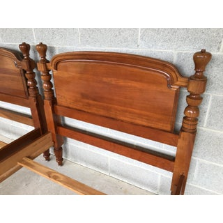 Vintage Harden Solid Cherry Tulip Finial Twin Beds - a Pair Preview
