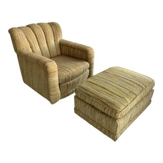 Vintage Tweed Chair & Ottoman