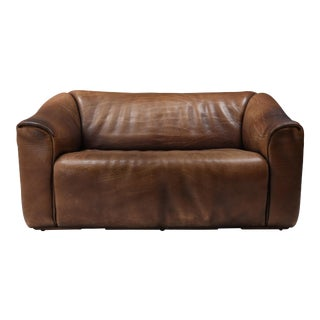 1970s De Sede Ds 47 Brown Leather Sofa For Sale