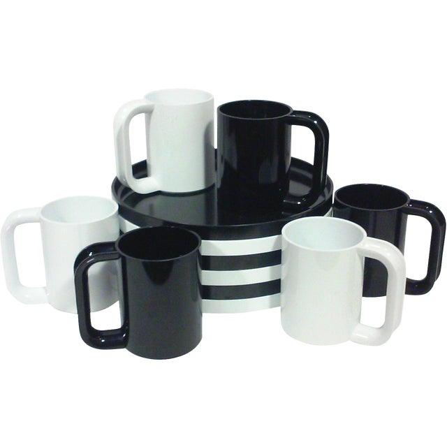 Black and White Melamine Dishes - Set of 12 - Image 1 of 5