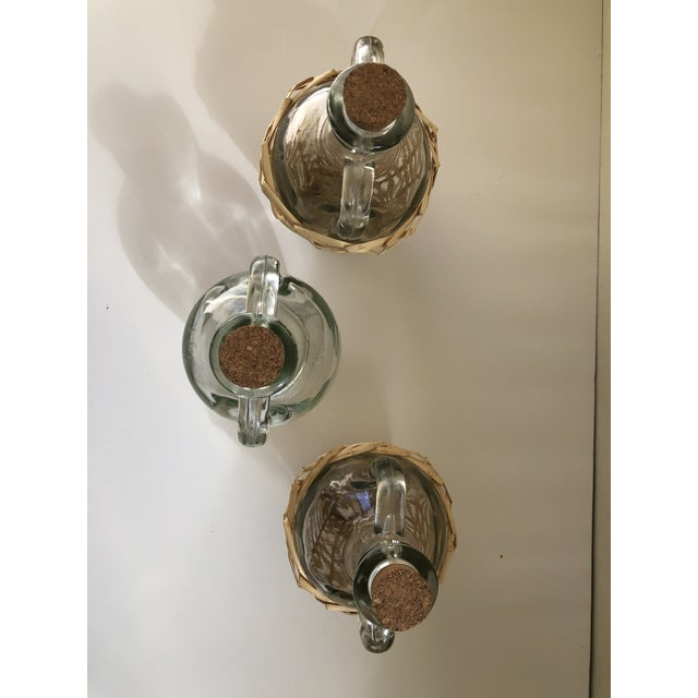 Wicker Wrapped Demijohn Bottles - Set of 3 For Sale - Image 9 of 13