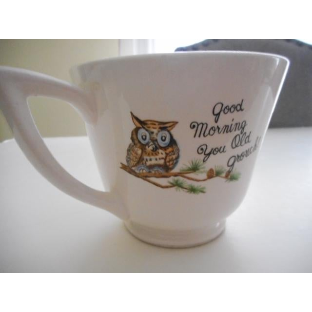 "50s ""Goodmorning You Old Grouch"" Mug For Sale - Image 4 of 7"