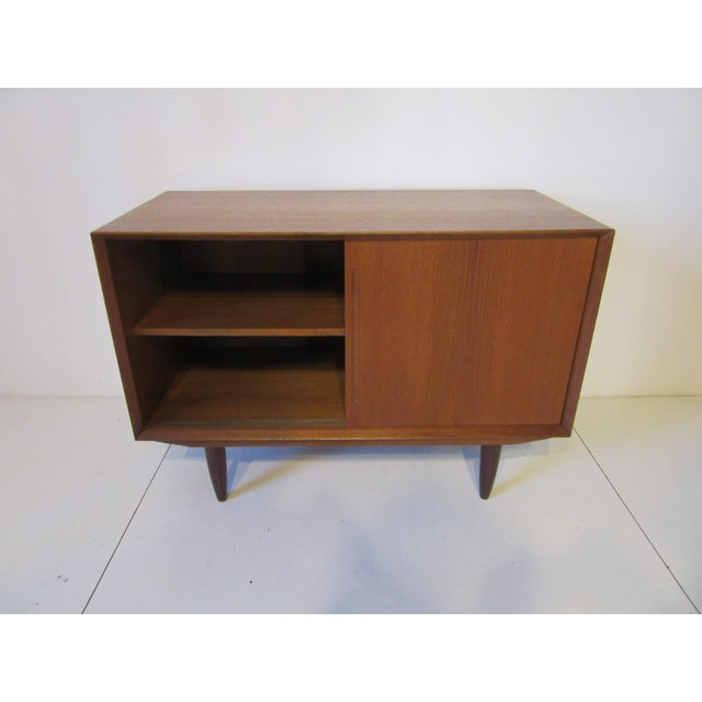 Danish Teak Wood Smaller Credenza For Sale In Cincinnati - Image 6 of 8