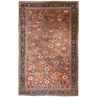 Antique Oversize Persian Serapi Carpet