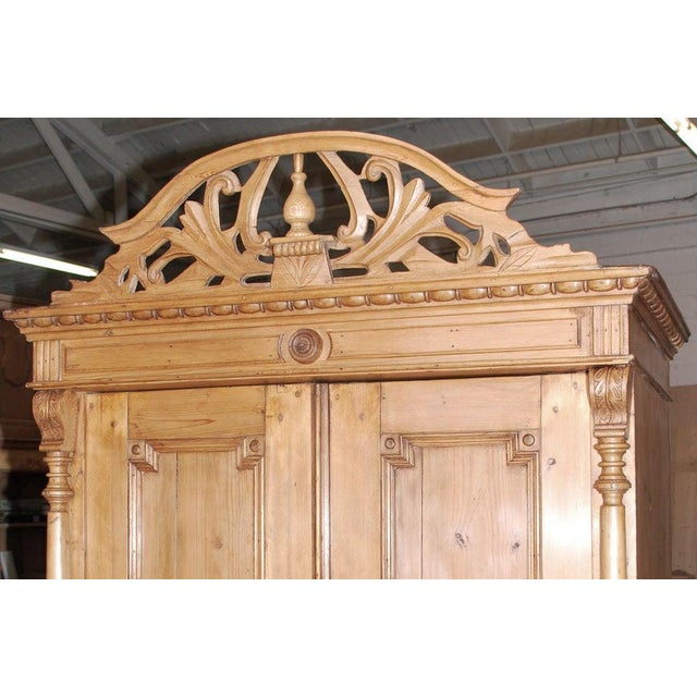 19th Century Baltic Wood Armoire For Sale - Image 4 of 9