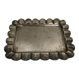 Scalloped Silver Vanity Tray