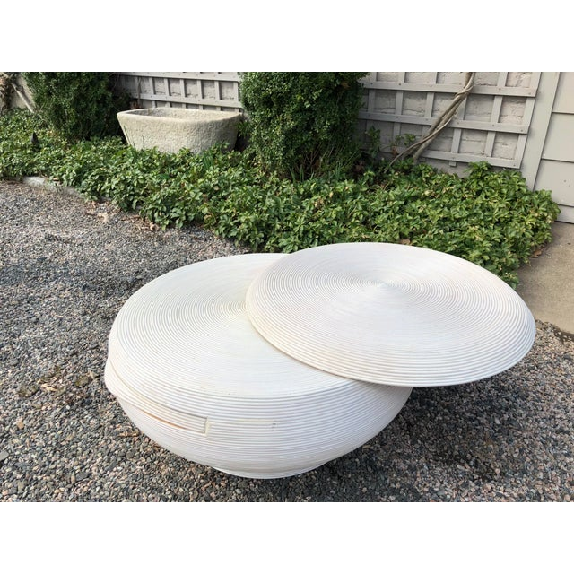 Wood Gabriela Crespi Style Mid-Century Modern Round Cocktail Table For Sale - Image 7 of 13