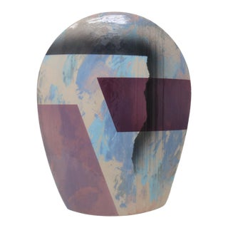 John Bergen Mikasa Ceramic Vase For Sale