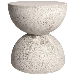 Cast Resin 'Bilbouquet' Side Table, Natural Stone Finish by Zachary A. Design