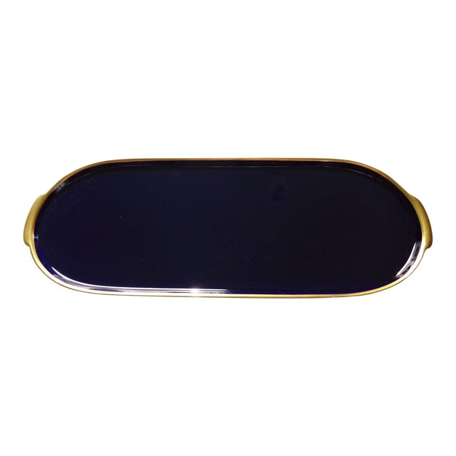 Lindner Kueps Baveria Cobalt Blue Porcelain Tray - Image 1 of 5