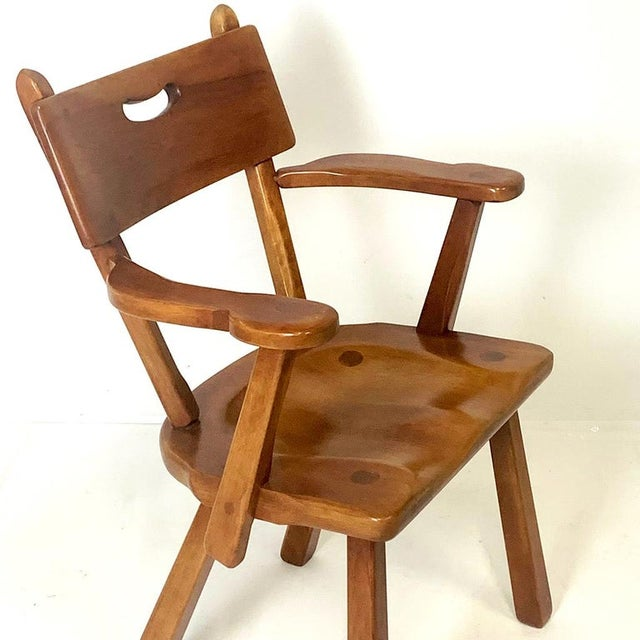Cushman of Vermont Cushman Vermont Americana Hard Rock Maple Armchairs by Herman DeVries - a Pair For Sale - Image 4 of 6