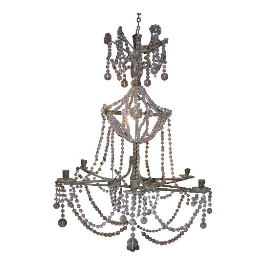 Fine 19th century star shaped crystal and beaded chandelier decaso 19th century star shaped crystal and beaded chandelier for sale aloadofball Image collections