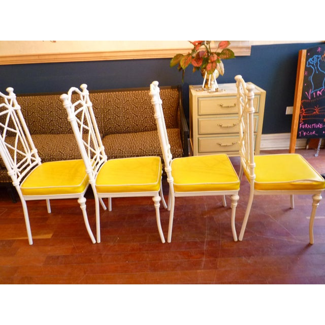 Faux Bamboo Regency Chippendale Dining Chairs - Set of 4 - Image 5 of 11