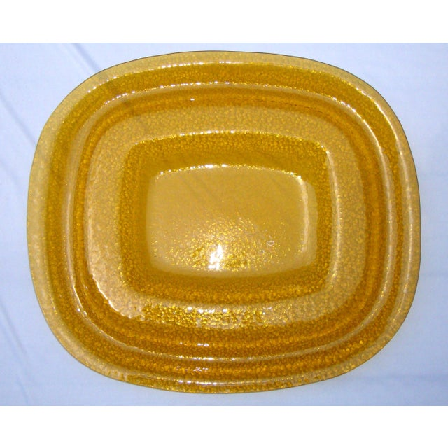 Art Deco Amber Yellow Glass Server Tray - Image 5 of 8
