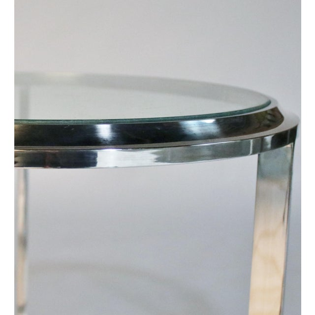 Maison Jansen Style Steel Side Tables For Sale - Image 11 of 12