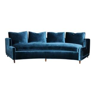 Pierre Curved Velvet Sofa