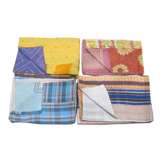 Children's Sarreid Ltd. Kantha Blanket For Sale